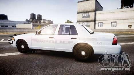 Ford Crown Victoria Bohan Police [ELS] unmarked pour GTA 4 est une gauche