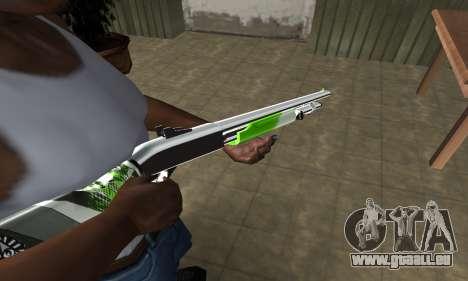Green Lines Shotgun pour GTA San Andreas