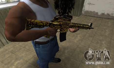 Yellow Jungle M4 pour GTA San Andreas deuxième écran