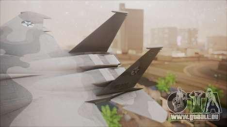 F-15S MTD Grabacr (8492nd) Ace Combat 5 pour GTA San Andreas sur la vue arrière gauche