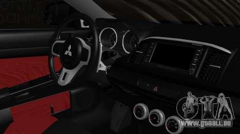 Mitsubishi Lancer Evolution X Taihou Itasha pour GTA San Andreas vue de droite