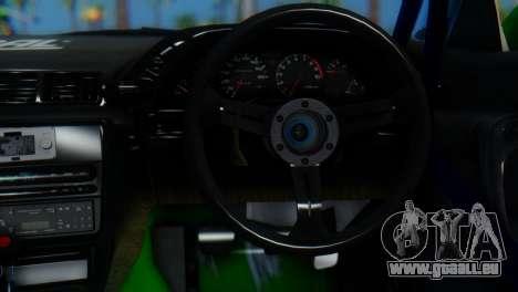 Nissan Skyline GT-R R32 für GTA San Andreas zurück linke Ansicht