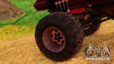Premier Monster pour GTA San Andreas sur la vue arrière gauche