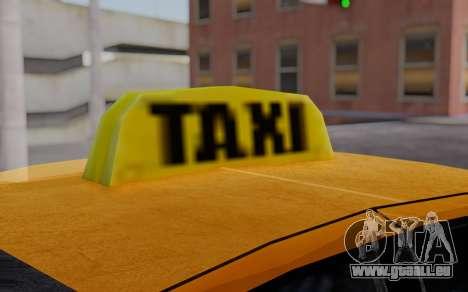 Ford Crown Victoria Taxi pour GTA San Andreas vue de droite