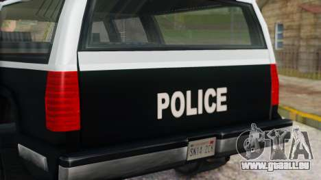 Police 4-door Yosemite für GTA San Andreas Rückansicht