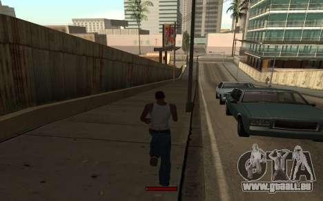 SprintBar pour GTA San Andreas cinquième écran