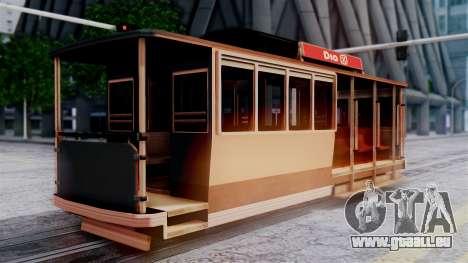 New Tram pour GTA San Andreas laissé vue