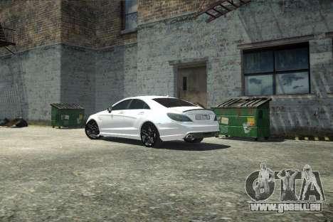 Mercedes-Benz CLS 63 AMG pour GTA 4 est une vue de l'intérieur