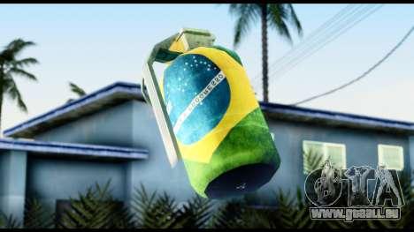 Brasileiro Grenade pour GTA San Andreas troisième écran