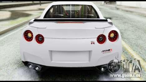 Nissan GT-R R35 2012 pour GTA San Andreas vue intérieure