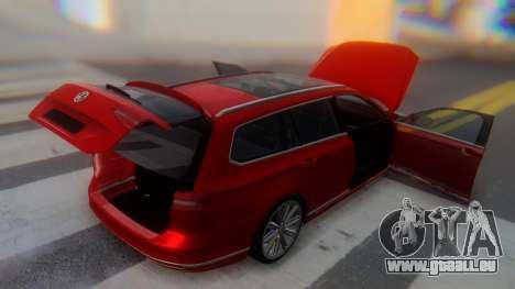Volkswagen Passat Variant R-Line pour GTA San Andreas vue de dessus