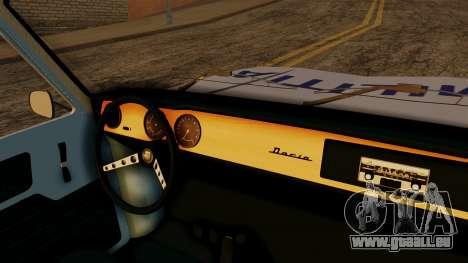 Dacia 1100 Militia pour GTA San Andreas vue de droite