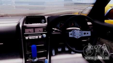 Nissan Skyline R34 pour GTA San Andreas sur la vue arrière gauche