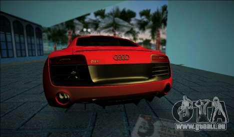 Audi R8 V10 Plus 2014 pour GTA Vice City sur la vue arrière gauche