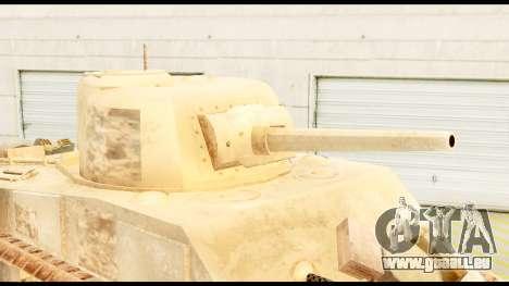 M4 Sherman 75mm Gun Desert pour GTA San Andreas vue de droite