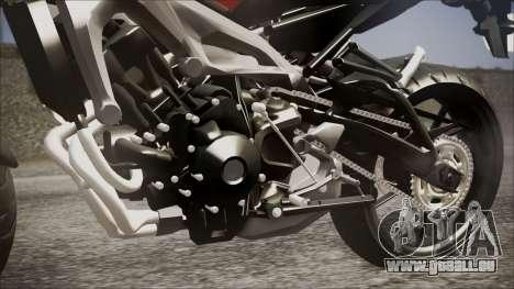 Yamaha MT-09 für GTA San Andreas Rückansicht