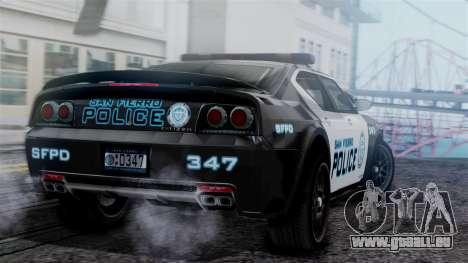 Hunter Citizen Police SF IVF für GTA San Andreas linke Ansicht