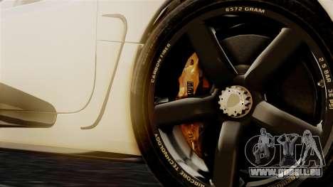 NFS Rivals Koenigsegg Agera R Racer pour GTA San Andreas sur la vue arrière gauche