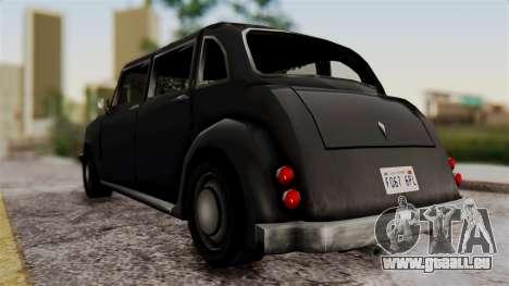 London Cab pour GTA San Andreas sur la vue arrière gauche