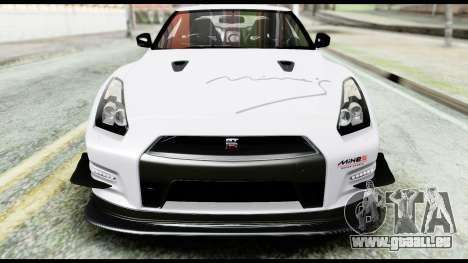 Nissan GT-R R35 2012 pour GTA San Andreas vue de côté