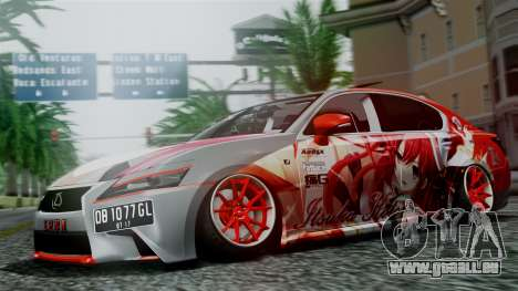 Lexus GS350 Stance Itsuka Kotori pour GTA San Andreas