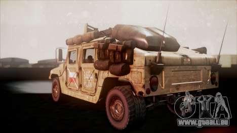 Polish HMMWV pour GTA San Andreas laissé vue