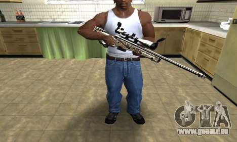 Gold Dragon Sniper Rifle für GTA San Andreas dritten Screenshot