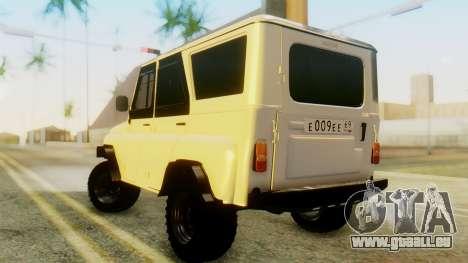 UAZ hunter für GTA San Andreas linke Ansicht