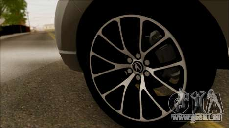 Acura RDX 2009 für GTA San Andreas Rückansicht