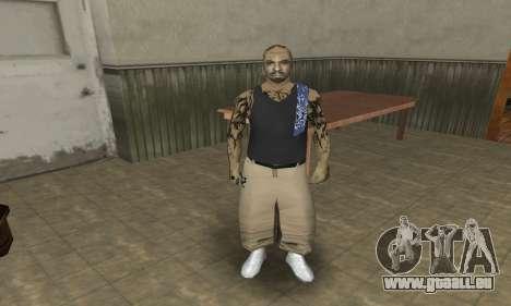 Rifa Skin Third pour GTA San Andreas troisième écran