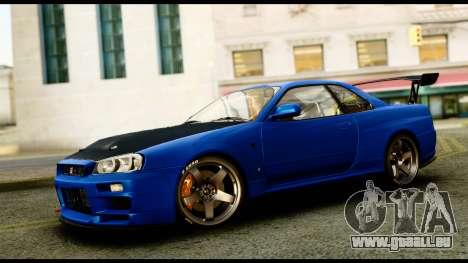 Nissan Skyline GT-R (BNR34) Tuned pour GTA San Andreas