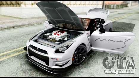 Nissan GT-R R35 2012 pour GTA San Andreas vue arrière