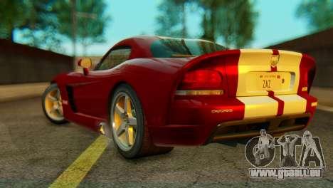 Dodge Viper SRT10 pour GTA San Andreas laissé vue