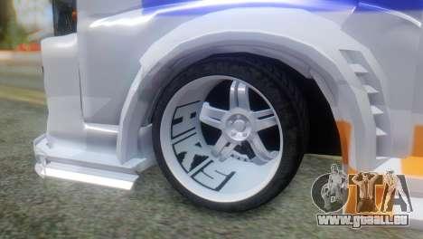 Nissan Urvan NV350 für GTA San Andreas zurück linke Ansicht