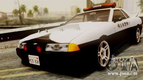 Elegy Saitama Prefectural Police pour GTA San Andreas sur la vue arrière gauche