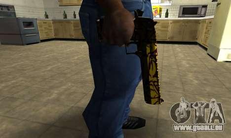 Yellow Jungle Deagle für GTA San Andreas