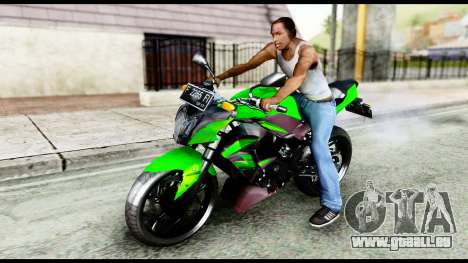 Kawasaki Z250SL Green pour GTA San Andreas