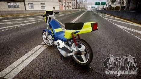 Peugeot 103 RCX yellow für GTA 4 hinten links Ansicht