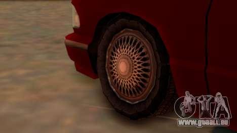 Premier Towtruck pour GTA San Andreas sur la vue arrière gauche