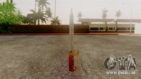 GTA 5 Antique Cavalry Dagger v1 für GTA San Andreas zweiten Screenshot