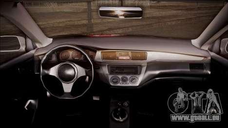 Mitsubishi Lancer Evolution VIII Yatogami Itasha pour GTA San Andreas vue de droite