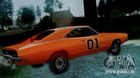 Dodge Charger General Lee für GTA San Andreas zurück linke Ansicht
