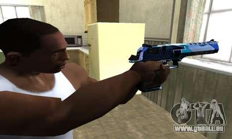Blue Lines Deagle für GTA San Andreas