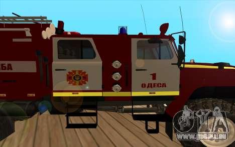 Ural 5557-40 das Ministerium von Notsituationen  für GTA San Andreas zurück linke Ansicht
