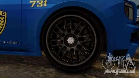 Hunter Citizen v2 IVF pour GTA San Andreas sur la vue arrière gauche
