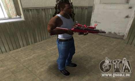 Red Romb Sniper Rifle pour GTA San Andreas troisième écran