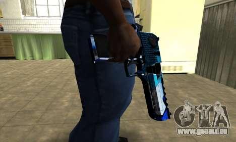 Blue Lines Deagle pour GTA San Andreas deuxième écran