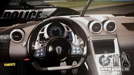 NFS Rivals Koenigsegg Agera R für GTA San Andreas rechten Ansicht