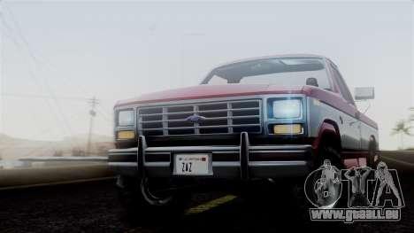 Ford F-150 Ranger 1984 pour GTA San Andreas sur la vue arrière gauche