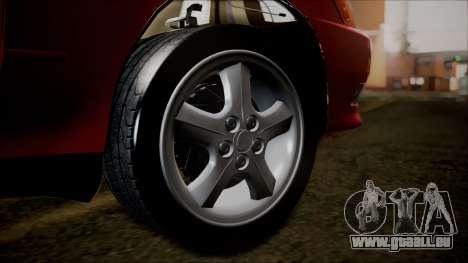 Toyota Mark II X90 pour GTA San Andreas sur la vue arrière gauche